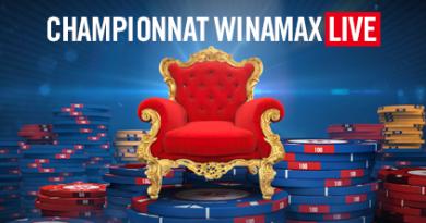 2ème manche champ. Winamax Live – lundi 24 septembre à 21h
